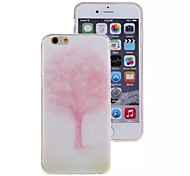 Pink Tree Pattern TPU Material Phone Case for iPhone 6