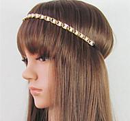 European Style Alloy Pearl Wholesales Hair Chain(White)(1Pc)