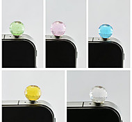 sfera di cristallo spina antipolvere da 3,5 mm per iphone sumsung (colore casuale)