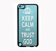 manter alumínio projeto do caso calma e confiança deus de alta qualidade para o iPod touch 5