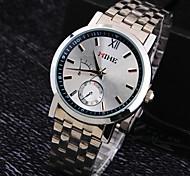 Men's Luxury Business Round Dial Stainless Steel Strap Fashion Life Waterproof Quartz Watch
