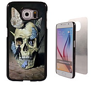 Skull and Butterfly Design Aluminum High Quality Case for Samsung Galaxy S6 Edge G925F