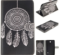 White Dreamcatcher PU Leather Full Body Case with Card for Samsung Tab 4 7.0 T230/Tab 3 Lite T110/Tab 3 8.0 T310 T311