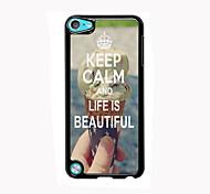 behalten Sie Ruhe und das Leben ist schön Design Aluminium-Qualitätsfall für iPod-Note 5