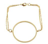 Gold Black Siver Plated Alloy Bracelet For Women