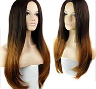 ombre Perücke Mode-wig wave weiblich elegant Schönheit Perücken wellenförmige synthetische zweifarbige
