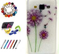 design especial pacote TPU novidade brilho inclui suporte anti-poeira plugue stylus para Samsung Galaxy a5