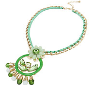 Color Acrylic Alloy Stainless Steel Fashion Necklace