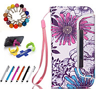 Good Quality PU Leather Full Body Case Wallet Case with Stylus Pen, Dustproof Plug and Stand for iPhone 4/4S