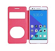 Newest Flip Cover Double Opening Window Sands Grain Fashion Pu Mobile Phone Shell for Huawei Honor 7 Assorted Colors
