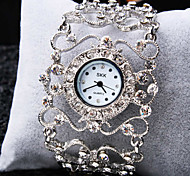 Mulheres Relógio de Moda Quartz Metal Banda Vintage / Brilhante / Bracelete Branco marca-