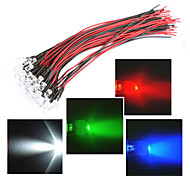 Line length in 20CM LED 12V 5MM light red / White / Blue / green /RGB 20PCS bundle