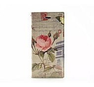 Peony pattern TPU/PU Leather Wallet Case/Case with Kickstand/Full Body Case for iPhone 6