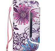 Flowers Pattern Two-in-One PU Leather for iPhone 6