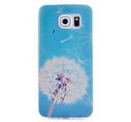 padrão de dente de leão caixa transparente de material TPU telefone fino para Samsung Galaxy S6 / S5 / S4 / S3 / s4mini / s5mini