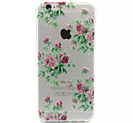 Chinese Rose Pattern Acrylic TPU Phone Case For iPhone 6
