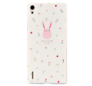 Colorful Deer Pattern Hard Back Case for Huawei P7