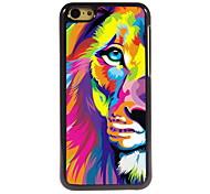 aquarelle lion design en aluminium cas de haute qualité pour iPhone 5c