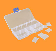 10 Lattice Box Plastic Box Box Box Single Screw Electronic Component Parts Box Jewelry Box