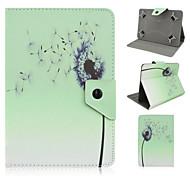 estampado de flores de alta calidad de cuero de la PU con el caso del soporte para la tableta de 7 pulgadas universales