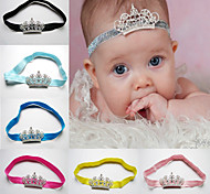 Fashion Princess Tiara Headband Baby Girl Toddler Infant Elastic Hairband Baby Hair Rhinestone Accessories