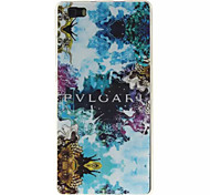 Blue Beautiful Pattern TPU And  IMD Phone Case For  Huawei P8 Lite