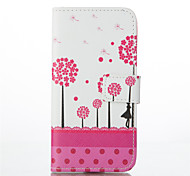Dandelion Pattern PU Leather Painted Phone Case For iPhone 6