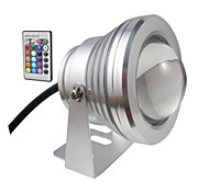 1 pieza HRY 10 W 1 LED de Alta Potencia 850-950 LM Blanco Cálido / Blanco Fresco Decorativa Luces Bajo el Agua DC 12 V