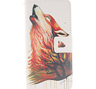 Wolf Pattern PU Leather Phone Case For Huawei P8 Lite