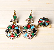 Z&X® Fashion ColourFul Flower Alloy Jewelry Set Party/Casual 1set