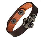 Punk Style Arrows Genuine Leather Bracelet(Brown)(1Pc)