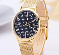 Mode Uhr Frauen goldene Uhr goldenen Streifen vintage Uhr Check