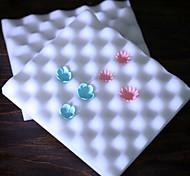 pastel de espuma que adorna el sugarcraft almohadilla modelado almohadilla herramienta de molde de flores en forma de onda fija de 2