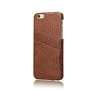 4,7 pulgadas de diseño especial de la PU del cocodrilo del cuero de la tarjeta dual de la contraportada para el iphone 6 (colores