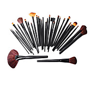 32pcs Pro Cosmetic Tool Makeup Brush Set Kit With Roll Up Black Bag Case