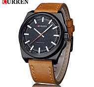 CURREN® Men's Fashion Dress Watch Japanese Quartz Military Design Leather Strap Cool Watch Unique Watch