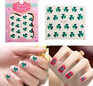Water Transfer Printing Clover Nail Stickers