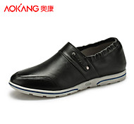 Aokang Men's Shoes Outdoor/Athletic/Casual Leather Fashion Sneakers Black/Brown/Red/Gray