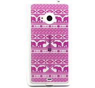 TPU Feel Comfortable Like Pink Tribal Case for Nokia N435/N535/N640