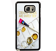 de metal de volta caso paleta projeto magro para Samsung Galaxy nota 3 / nota 4 / nota 5 / nota 5 borda