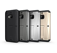 The Armored Tank Case with Stand TPU&PC Shockproof Protective Case for HTC One m9