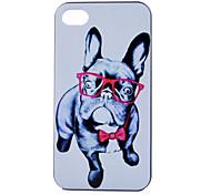Gläser Hund Muster PC-Material Telefonkasten für iphone 4 / 4s