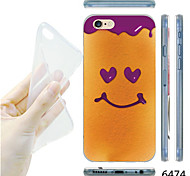 MAYCARI®Smiling Face Ice Cream Pattern TPU Soft Transparent Back Case for iPhone 6