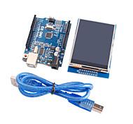 version améliorée uno Module r3 du conseil d'administration de ATmega328P + 2,8 pouces module d'affichage TFT LCD tactile pour Arduino