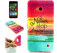 Sky  Pattern TPU + IMD Phone Case For Nokia N640