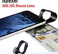 apexel Clip-on-3-Element 3 Gruppe Universal professionelle 20fach-HD-Makro-Objektiv für iPhone / iPad und anderen Handys