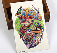 Séries Flores / Séries Totem / Outros - Brand New - Tatuagem Adesiva -Non Toxic / Estampado / Tamanho Grande / Tribal / Lombar /