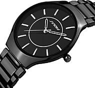 relogio masculino Luxury SINOBI Brand Black Stainless Steel Strap Watches Women's Quartz Watch Men Wristwatch