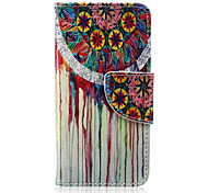 Color Campanula Pattern PU Leather Full Body Case for iTouch 5
