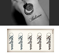 (10pcs)HC136-Believe Words New Design Fashion Temporary Tattoo Stickers Temporary Body Art Waterproof Tattoo Pattern